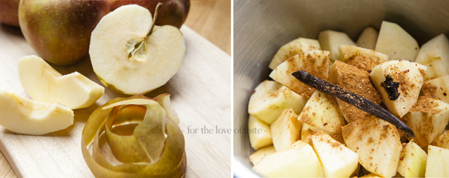 Apple compote with a twist - sugar free