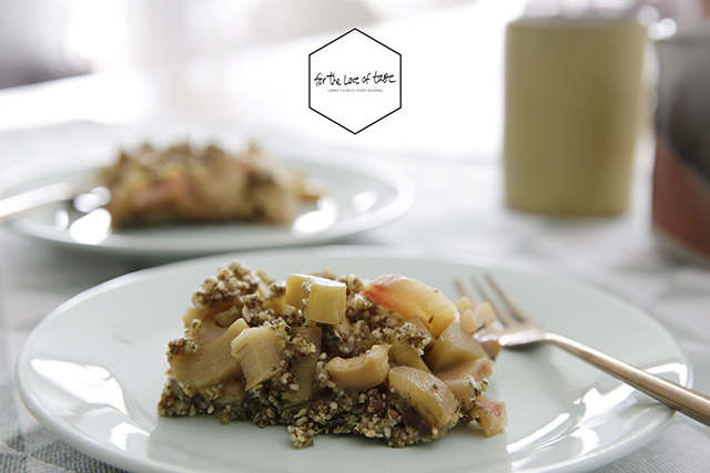 raw rhubarb cobbler recipe - raw rabarber kruimeltaart recept