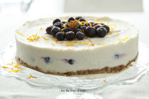 Raw Blue berry cheesecake, vegan