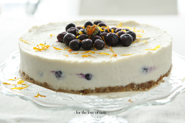 blue berry cheesecake - vegan