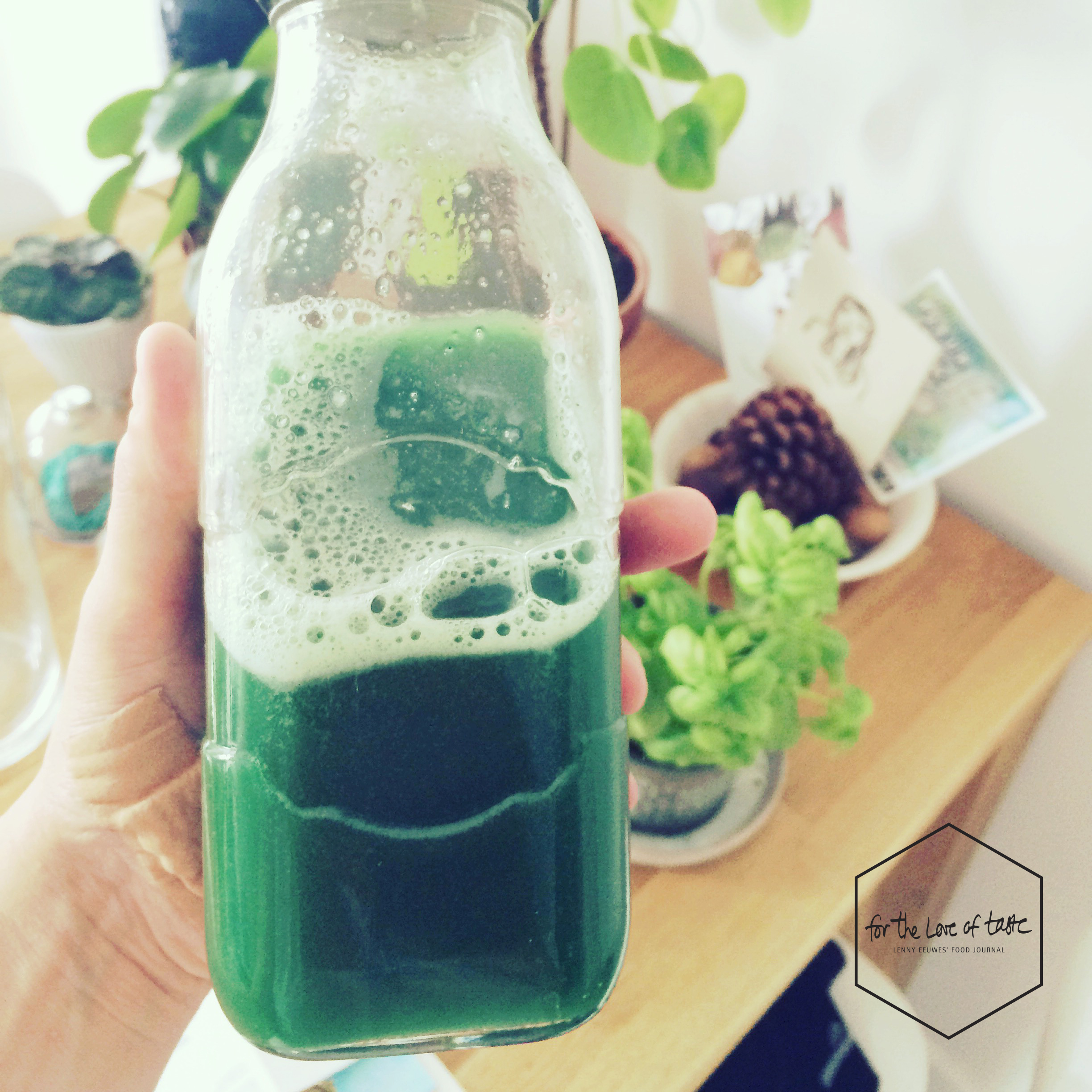 cucumber-melon chlorella sports juice recipe
