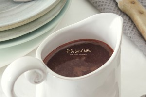 raw chocolate sauce