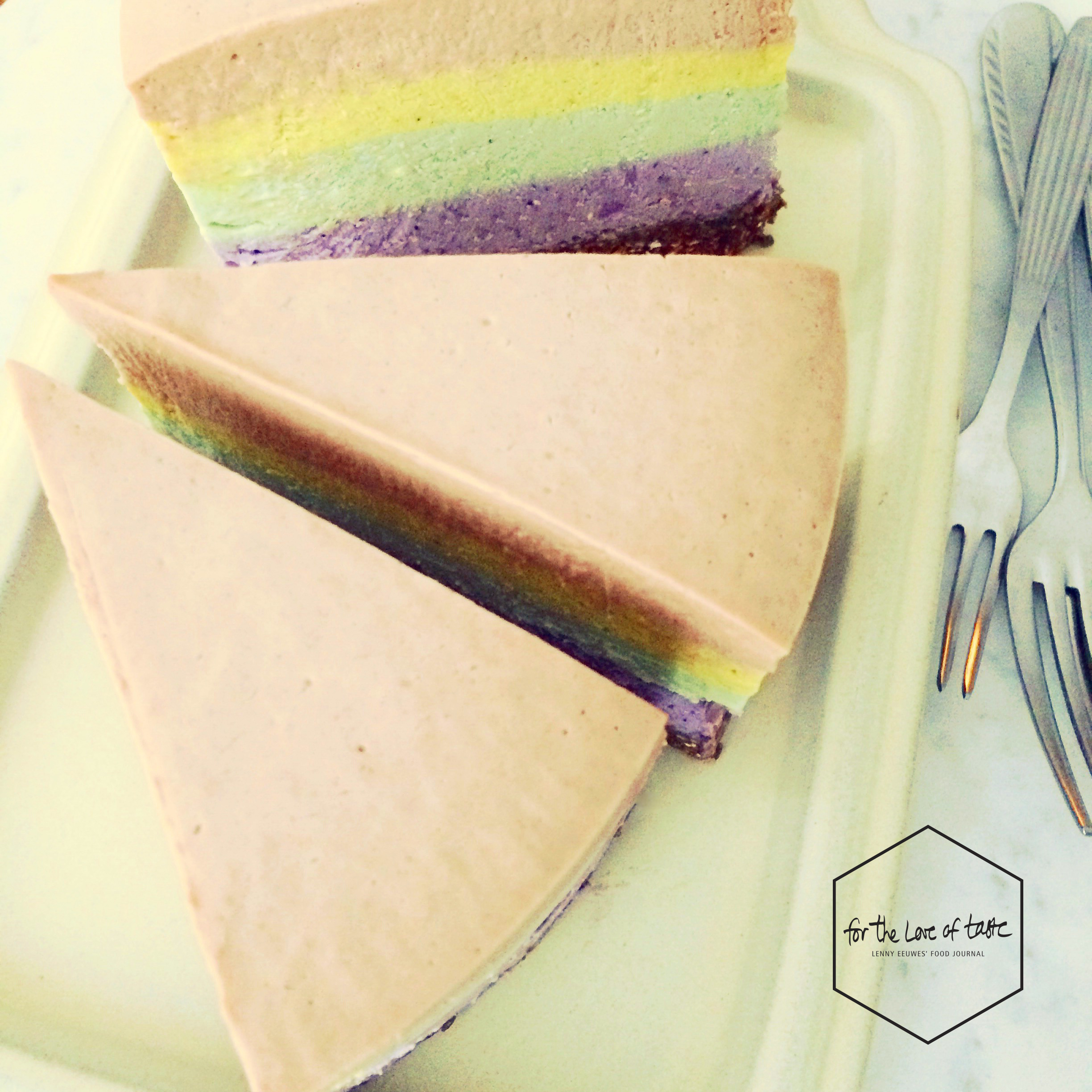 raw vegan rainbow cheesecake