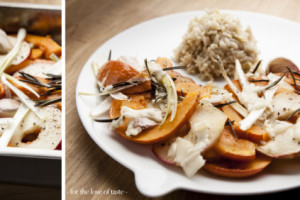 Roasted Rosemary pumpkin with apple