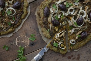Pumpkin pizza – grain + nutfree crust