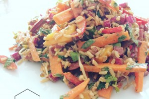Rainbow salad – vegan