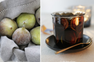 Marinated fresh balsamic figs