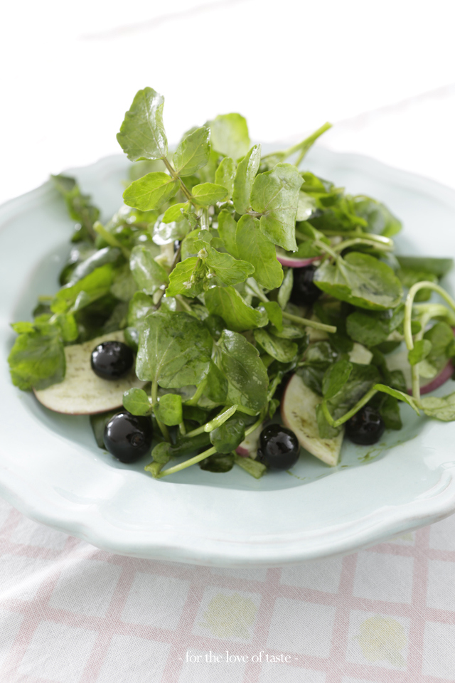 watercress berry salad -  waterkers bes salade