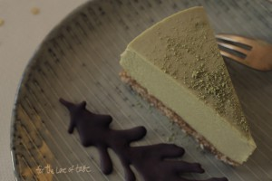 White chocolate matcha cheesecake – raw